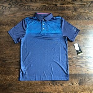 PGA tour pro series polo blue Athletic fit small